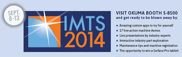 Visit Okuma Booth S-8500 at IMTS 2014