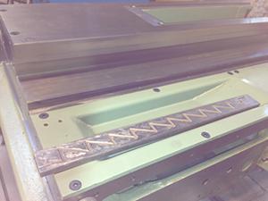CNC machine gib