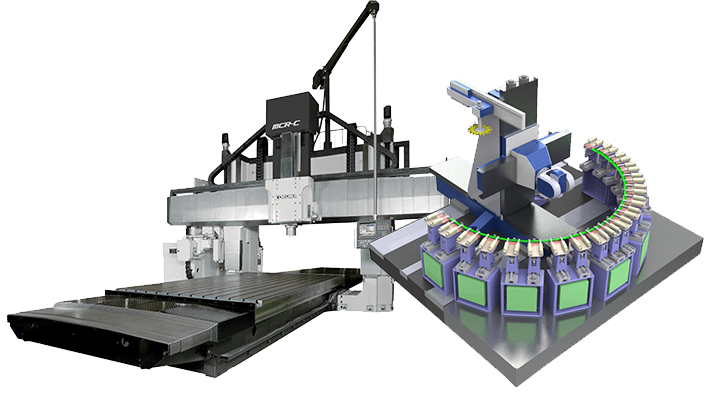 Gosiger offers double column machining centers from Okuma and Modig.